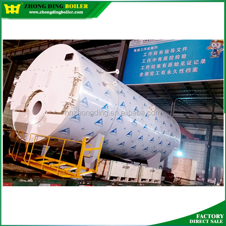 Safety Value Automatic Three Pass Oil Gas Fired Steam Boiler Made in China