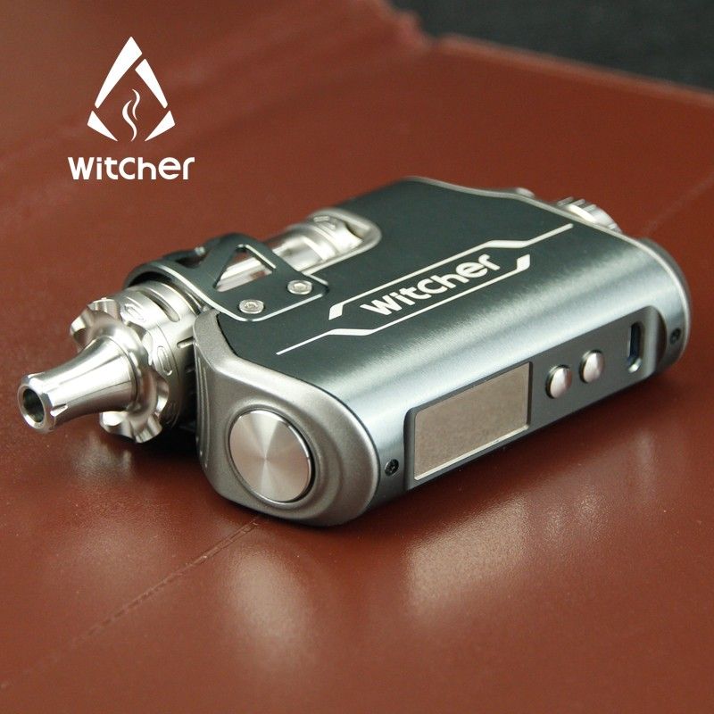 Rofvape Huge Vapor Gepetto Elite Tugboat V2 Box Mod Clone Gray Color 75w Witcher With 5.5ml Tank