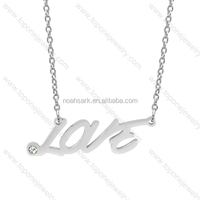 Top selling wholesale sliver couple necklace