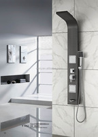 black color stainless steel shower panel with massage jets (Y-032)