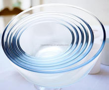heat resistant high borosilicate glass mixing bowl/salad bowl use in microwave oven freezer