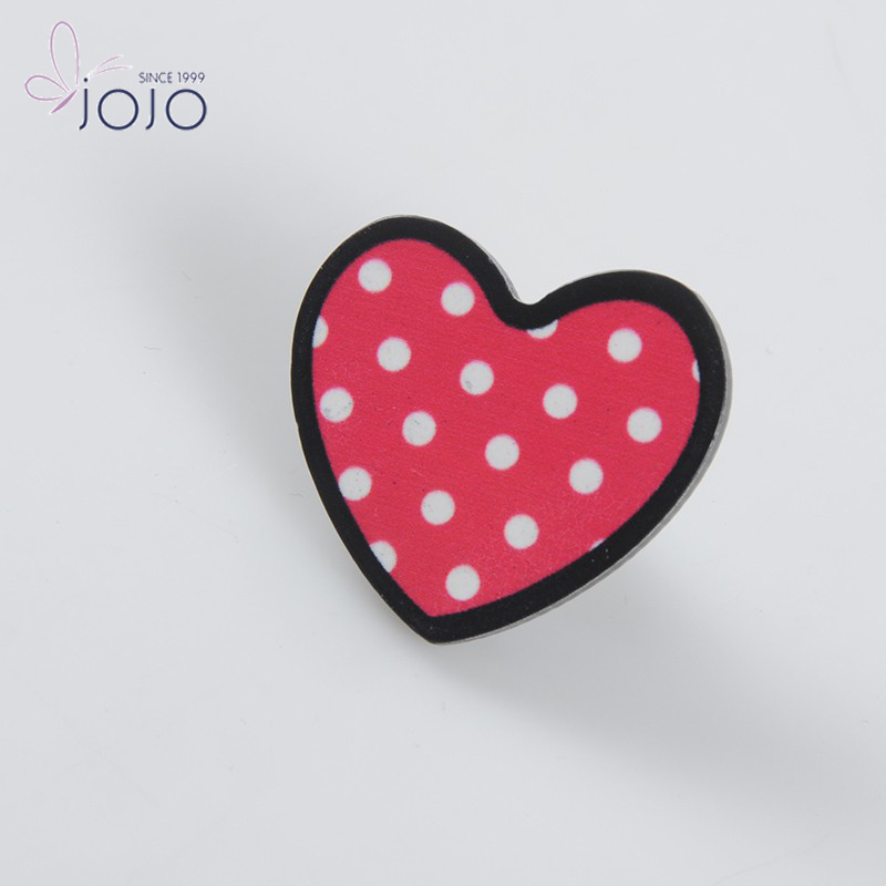 Supermarket plastic heart custom lapel pin garment security ink tag with pin