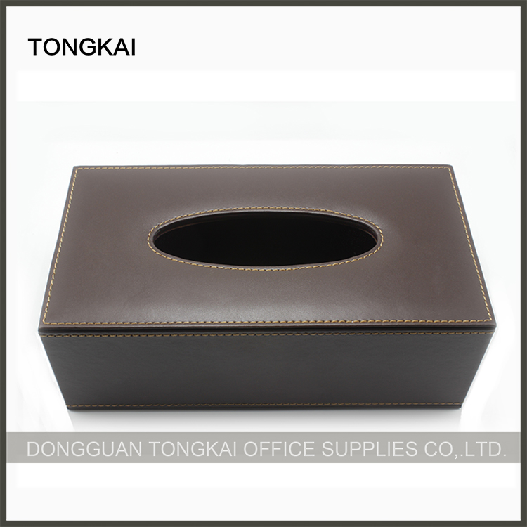 Luxurious Hotel Coffee Leather Tissue Box