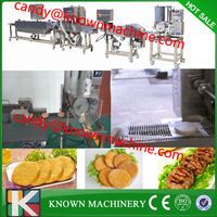 Automatic Halal Beef Fish Chicken Nuggets Making Machine