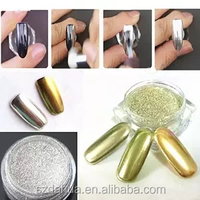New Arrived Silver Gold Chrome Mirror Powder for Mirror Nails Mirror Effect Powder Pigment Use on UV Gel Nails