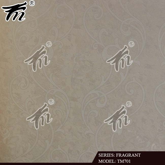classic design European style wallpaper felt wall covering