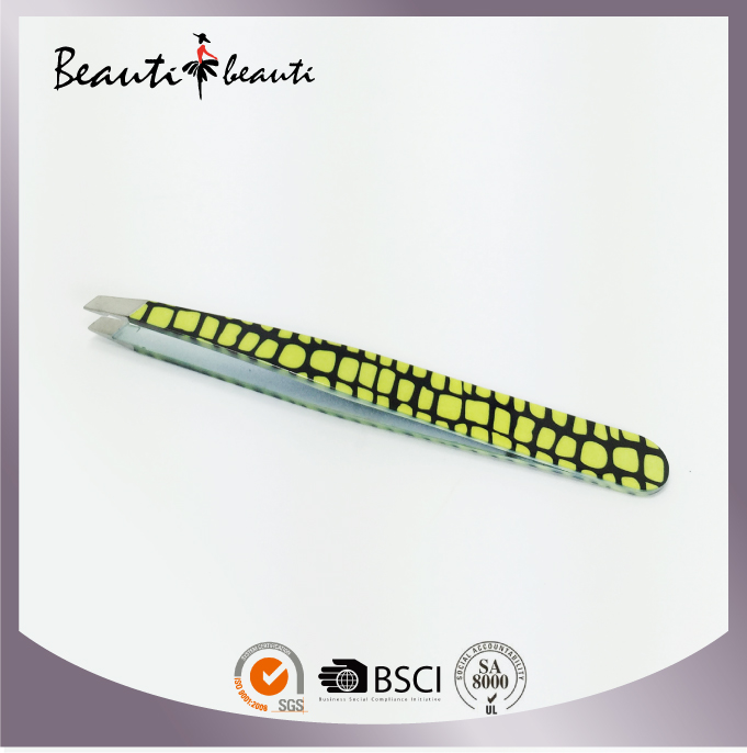High Quality Hot Sales of Professional Printed Stainless Steel Tweezers by ISO & SA8000 Factory