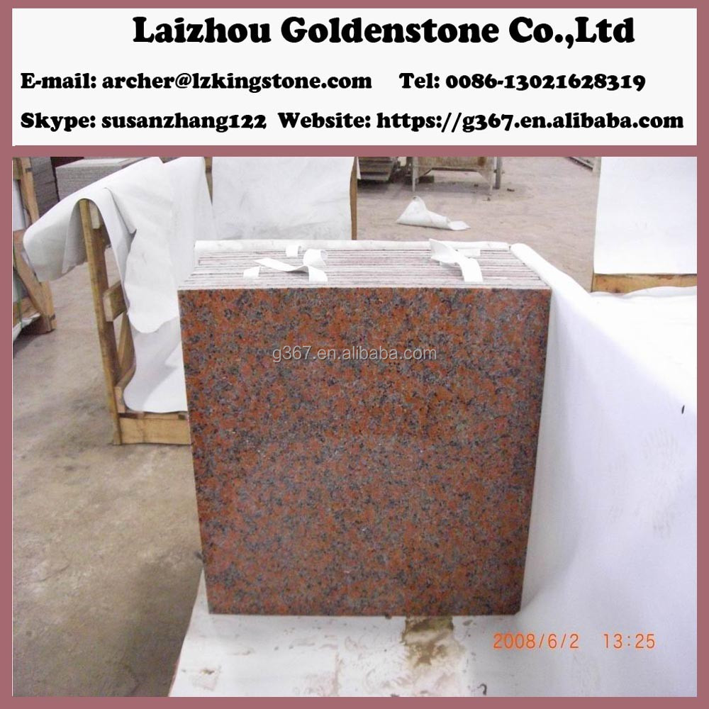 Chinese Red Granite G562 Maple Red Carve Fan Process