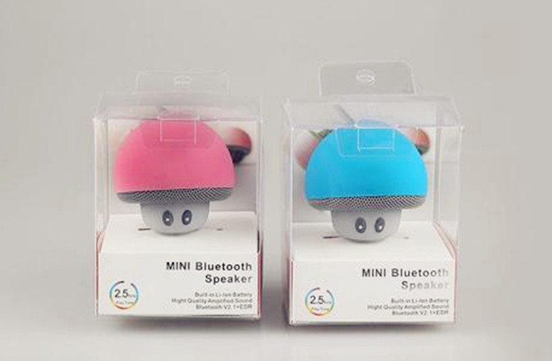 High Quality Silicon Suction Waterproof Mini Mushroom Wireless Speakers For All Smartphones