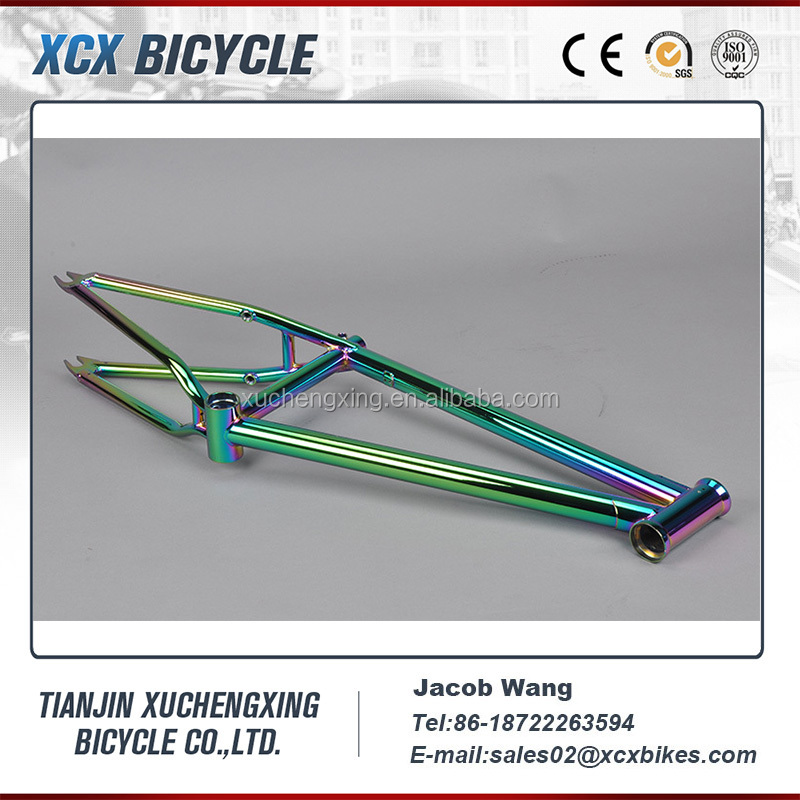 20 inch colorful painting BMX freestyle bike frame 2016