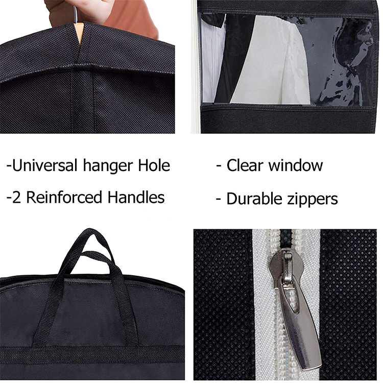 Manual cheap foldable non woven garment bag