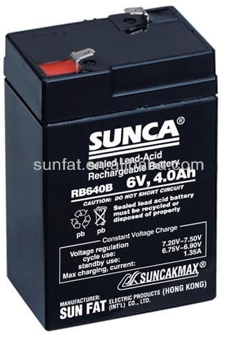 (RB640B) Rechargeable Sealed Lead Acid Battery