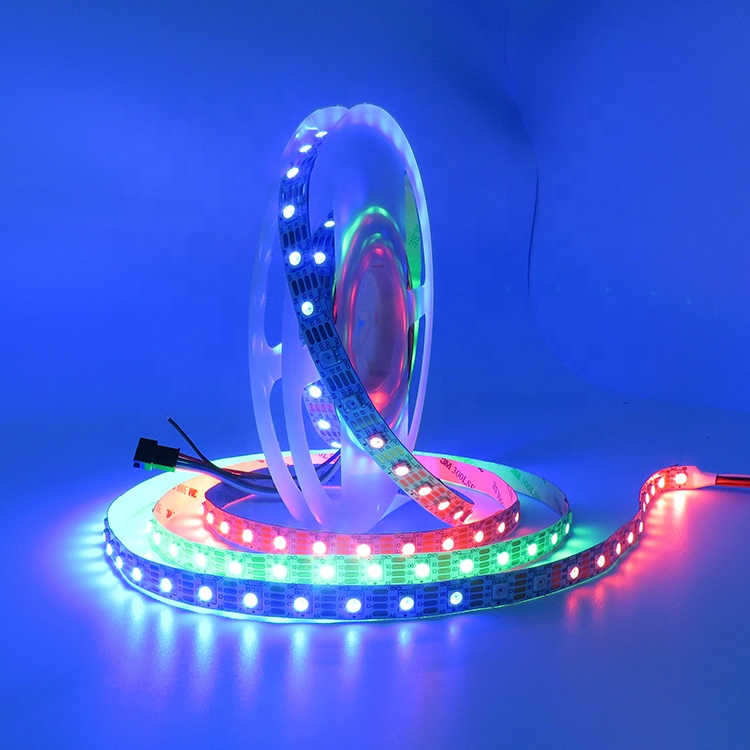 SMD 5050 WS 2813 WS2812 Pixel IP20 IP65 IP67 IP68 DC 5V Addressable RGB 30 60 144 <strong>LED</strong>/M Flexible <strong>LED</strong> WS2813 IC Strip