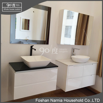 black high gloss modern bathroom vanity bathroom cabinet