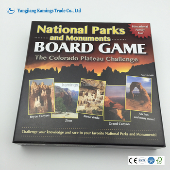Wholesale Advertising Poker Type and Paper Material Custom Print Board Game