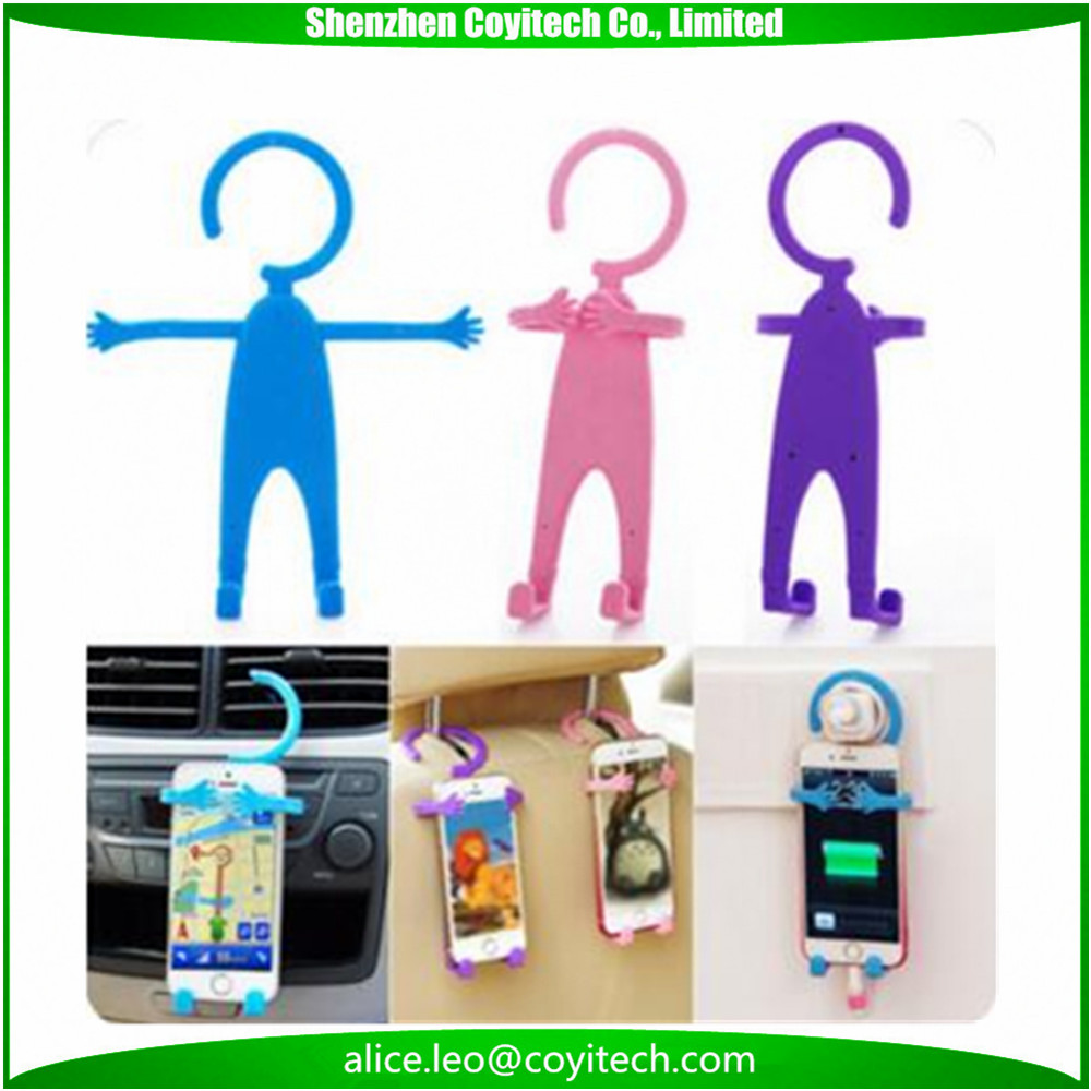 Funny cartoon shape cell phone holder for car desk wall mount
