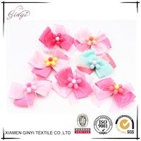 Fashion wholesale colorful delicate ribbon bows hair clip for hair