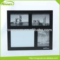 Magnetic sheet and three photo frames combo notice board decoration