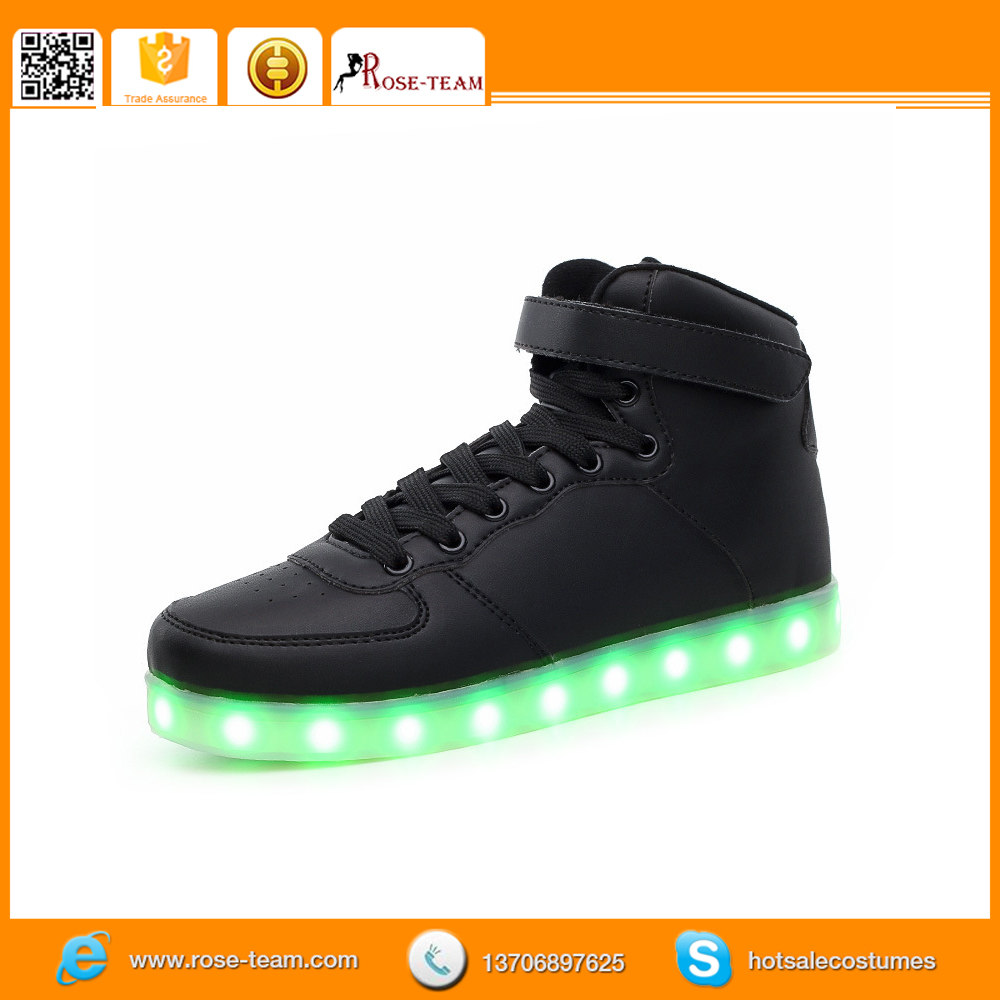 shoes with wings logo, high top led dance shoes, unisex sneakers led shoes for women