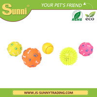 Cute dog chews vinyl pet toys with sound