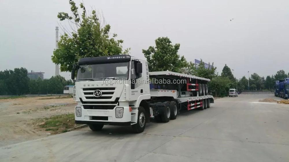Heavy Duty Tractor Trailer : Heavy duty ton low bed trailer truck tractor