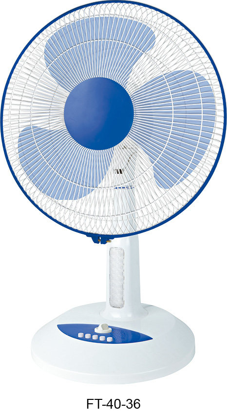 16 inch blue & white color table stand fan