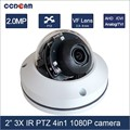 2017 Newest 2 inch 4in1 1080P 3X Optical Zoom 2.8-8mm 3.0MP3X VF Lens PTZ Camera for indoor security