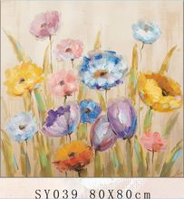 SY039 Abstract Famous Flower Modern Oil Paintings On Canvas Home Decoartive Pictures oil painting reproduction from china