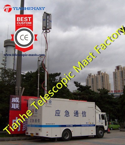 6m vehicle mounted mobile cellular tower antenna telescopic telecommunication pneumatic mast