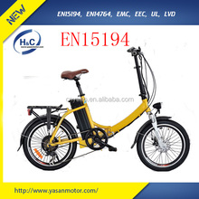 The most ECO 20 inch small folding electric bike 250w mini brushless motor electric bike