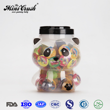 Animal shaped candy jar packed assorted fruit mini sweet gummy candy