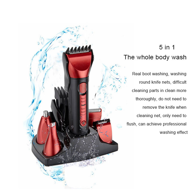 Wholesale cheap men shave set kit beard trimmer electric small quiet metal commercial lightweight professional hair clippers