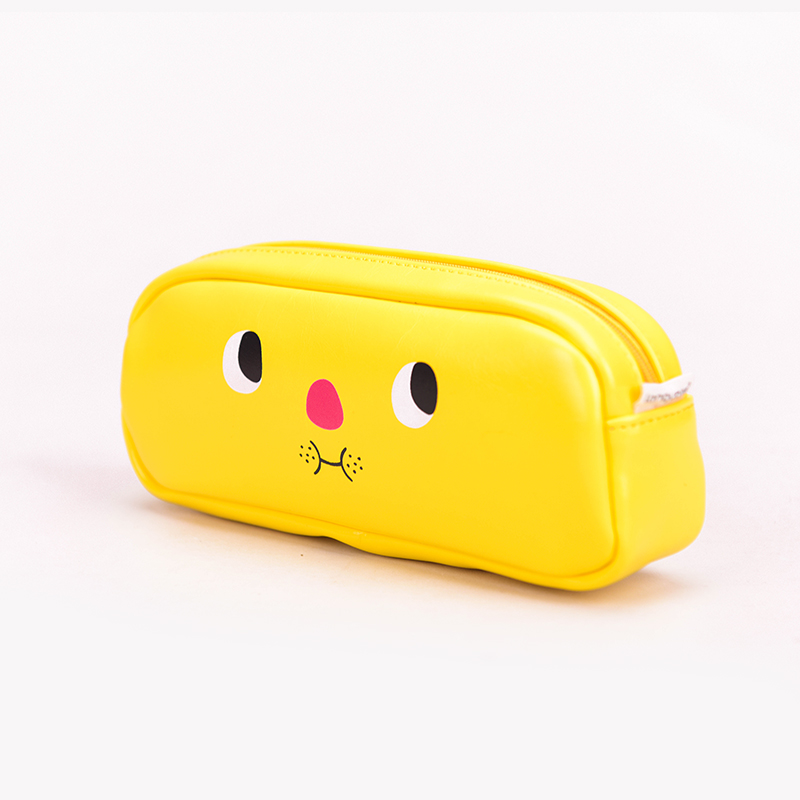 Languo NEW make face style school bag PU pencil pouch for wholesale