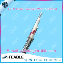 FVLP plane lacquer wire with braiding shielded aircraft cable