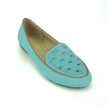 2017 latest design pretty factory price china lady falt loafer casual pumps shoes