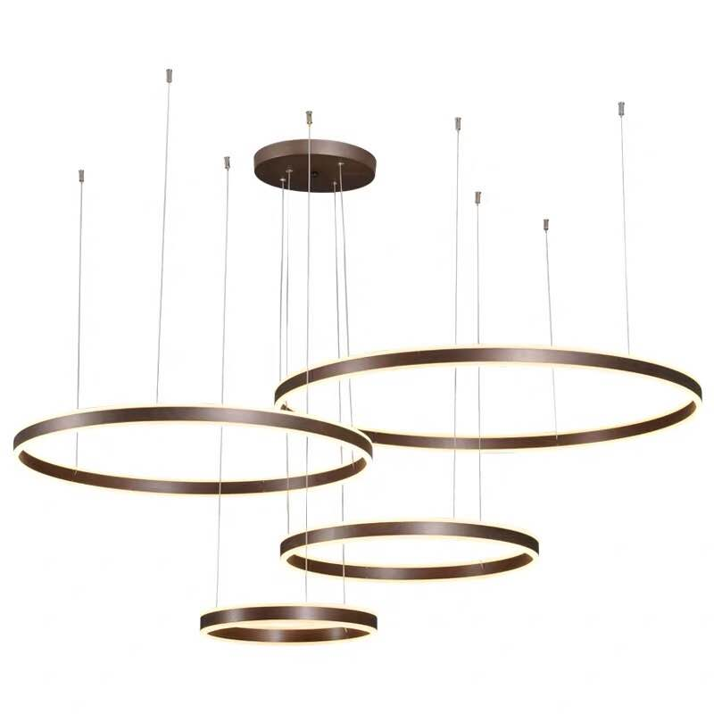 Modern Fancy Circular Chandelier Decorative Big Circle Led Ring Pendant Light