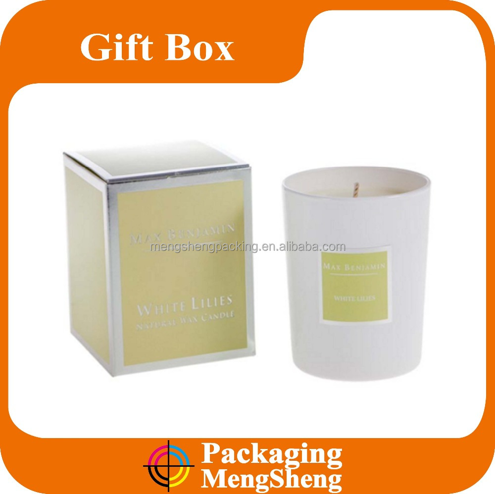 Paper Wax Candle Packaging Box Customized Manufacture