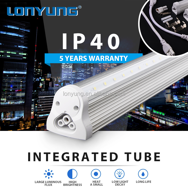 Low energy usage convenient integrated environment friendly t8 tube 8 fixture lamp led light