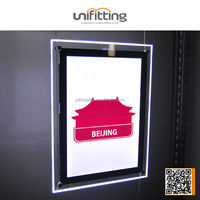 Cable Suspension LED light box real hanging picture frame acrylic