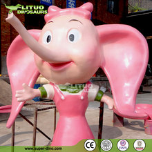 Welcome Statue Fiberglass Cartoon Characters Elephant