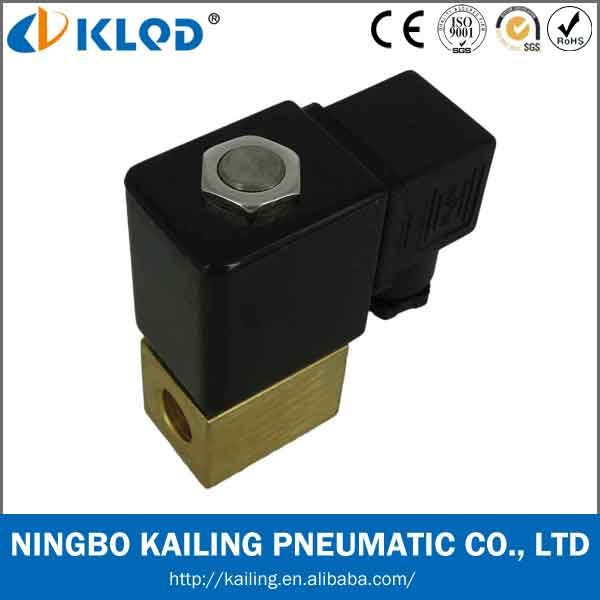 Brass body electric solenoid water valve PU220-02
