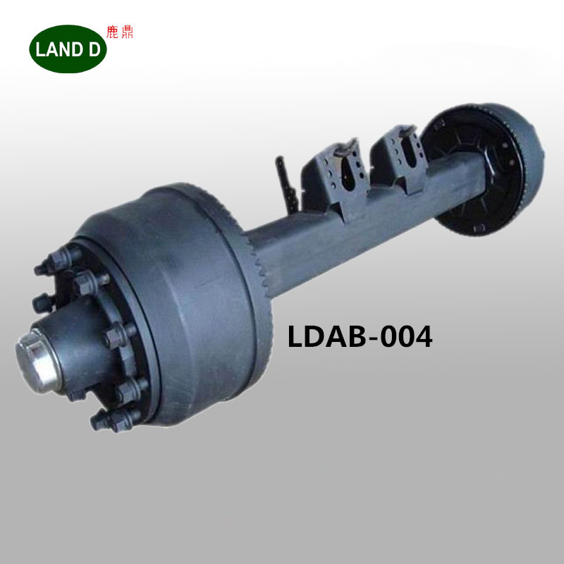 Truck Spare Part Factory Inboard Drum Square 150 Rear Tandem Germany Type 16T Semi Trailer Axle