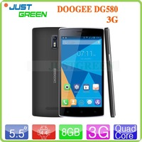 Doogee 5.5 inch IPS MT6582 quad core touch screen android 4.4 dual mode gsm cdma mobile phone