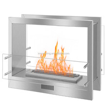 Wall mounted eletric bio ethanol fireplace surround ideas
