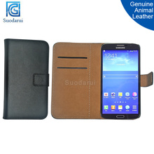Genuine animal leather Stand Wallet Flip phone Case for Samsung Galaxy Mega 6.3 I9200