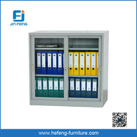 High Quality Metal Hospital Cabinet Glass Door