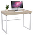 Computer table standing office desk furniture material in wooden material