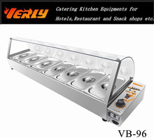 Counter top stainless steel commercial electric bain marie food warmer VB-96