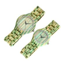 Teenage Fashion Dropshipping Color Bamboo Woodwatches,Couple watches with Japan Quartz Movement