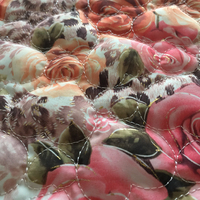 polyester printed embroidered quilting fabric,quilted cotton fabric for garment